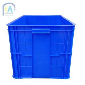 Thùng nhựa đặc (sóng nhựa bít) HS026 có tay xách