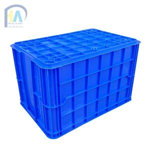 Thùng nhựa đặc (sóng nhựa bít) HS026 cạnh dài