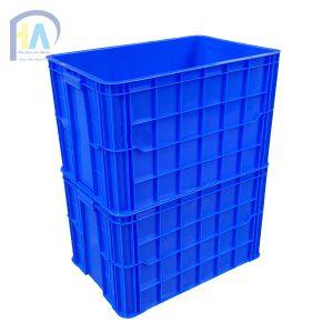 Thùng nhựa đặc (sóng nhựa bít) HS026 xếp chồng lên nhau
