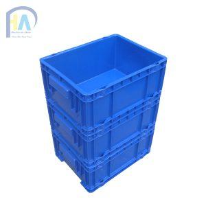 Thùng nhựa đặc (sóng nhựa bít) DCS504 xếp chồng