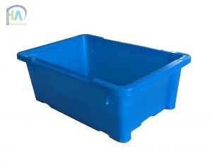 Thùng nhựa đặc A4 xanh dương