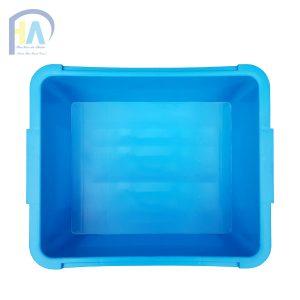 Thùng nhựa đặc (sóng nhựa bít) A3CT màu xanh dương