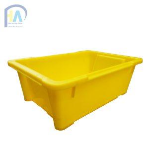 Lòng trong Thùng nhựa đặc( sóng nhựa bít) A4 màu vàng