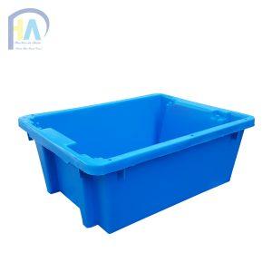Thùng nhựa đặc A7 xanh dương