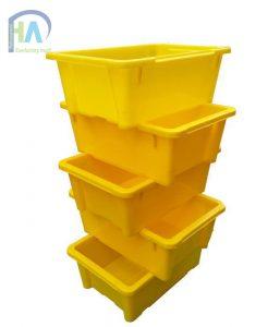 Thùng nhựa đặc A4 màu vàng