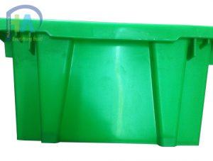 Thùng nhựa đặc( sóng nhựa bít) A7 màu xanh lá