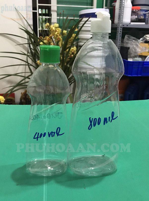 Chai đựng nước rửa chén 400ml - 800ml Phú Hòa An